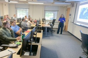 Jane Przygocki Lecturing Students at UMD