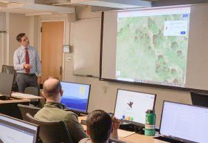 Brandon Fritz Lecturing Students at UMD