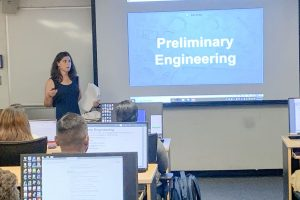 Keely Lauretti Lecturing Students at UMD